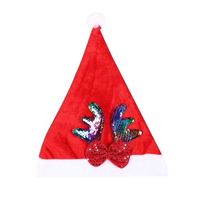 Invierno Navidad Gorras Rojas Mujeres Hombres Lentejuelas Arco ...