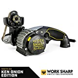 Work Sharp Knife & Tool Sharpener Ken Onion Edition - Precision Sharpening from 15° to 30°, Premium Flexible Abrasive Belts, Variable Speed Motor, Multi-Positioning Sharpening Module
