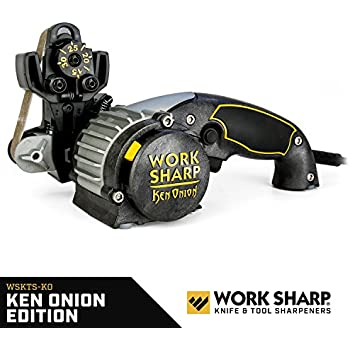 Work Sharp Knife & Tool Sharpener Ken Onion Edition - Precision Sharpening from 15° to 30°, Premium Flexible Abrasive Belts, Variable Speed Motor, Multi-Positioning Sharpening Module