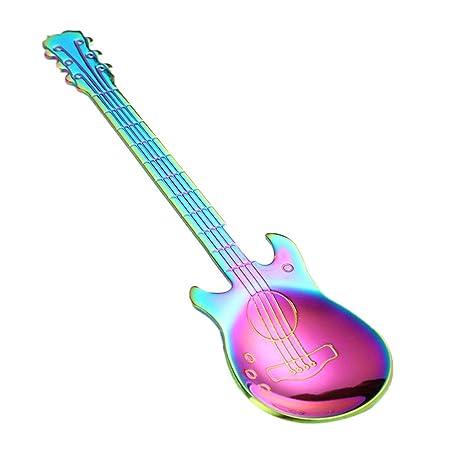 Lorsoul Guitarra De Dibujos Animados De Acero Inoxidable En Forma De