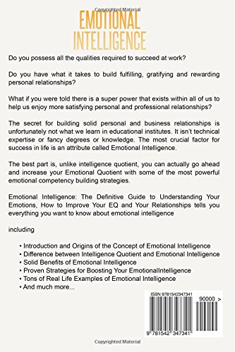 Emotional Intelligence The Definitive Guide To Understanding Your