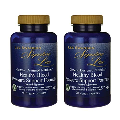 (Swanson Healthy Blood Pressure Support Formula 90 Veg Capsules (2 Pack))