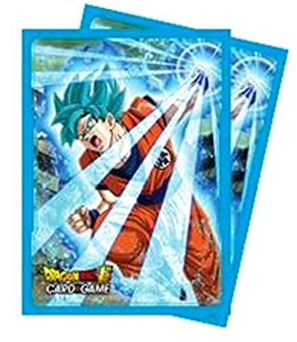 Ultra Pro Abysse Corp _ Accdbs003PC Dragon Ball Super–Goku Bleu Protector Manches (65ct) X5, Multi Couleur Abysse Corp_ACCDBS003