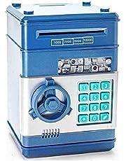 حصالة على شكل خزنة اموال-حصالة نقود ذكية شكل خزنة البنك لون أزرق