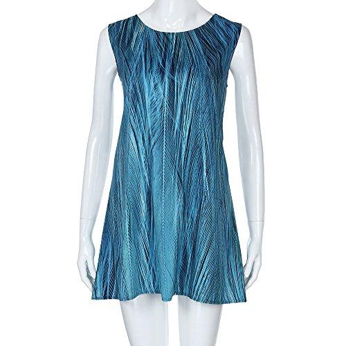 VEMOW Damenkleider Vintage Boho Frauen Sommerkleider Sleeveless ...