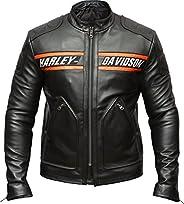 Harley Davidson Biker Genuine Leather Jacket Style Motorcycle Goldberg WWE