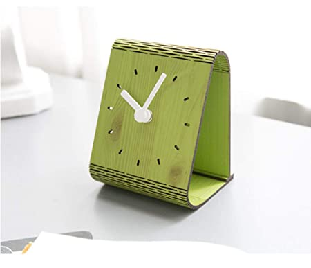 LOSDFVI Reloj de Pared Reloj de Mesa de Madera Creativo Diseño ...