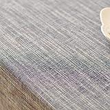 Japanese-Style Plain Fabric Striped Tablecloth Simple Art Linen Tablecloth Pure Color Cotton Hemp Gabe,140220Cm