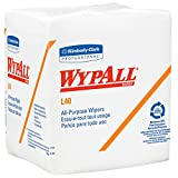 Kimberly-Clark Professional Wypall L40 DRC Recycled Wipers (05701), Disposable Cleaning and Drying Towels, White, 18 Packs/Case, 56 Sheets/Pack