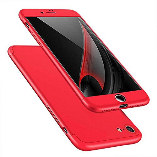 Samhe for iPhone 6 Plus Case, 3 in 1 Ultra-Thin Hard Cover 360 Degree Protection for Apple iPhone 6 Plus (Red)