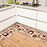RUHHDFGSDJCFJXF Kitchen,Non-slip Mat/Floor Mat/Anti-skidding, Oil-proof, Dust,Restaurant,Strip Pad/Rectangle,Hand Wash,Household Mats-F 45x70cm(18x28inch)