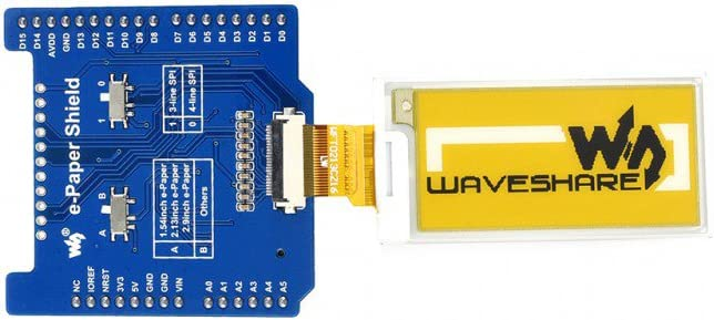 NUCLEO Universal E-Ink Driver Shield Hat for Arduino UNO XNUCLEO Supports Various Waveshare SPI e-Paper Raw Panel Modules Compatible with 3.3V//5V MCUs Leonardo