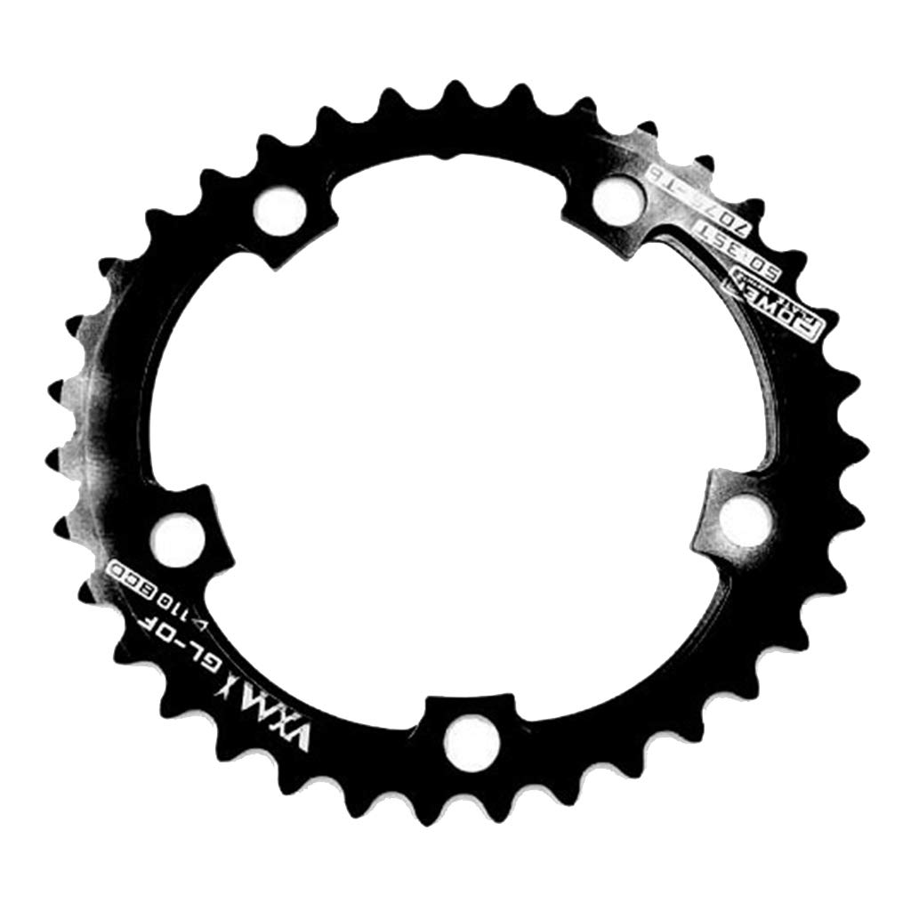 DYNWAVE Round Chainring Multiple Colors Sizes Performance Aluminum Alloy 110BCD Ultralight Single Narrow Wide Chain Ring for Most Bike Cranksets