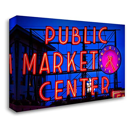 Public Market Sign II 40x28 Gallery Wrapped Stretched Canvas Art by Stefko, Bob