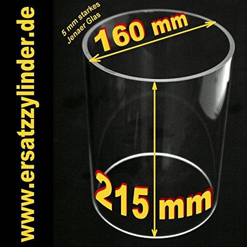 Verre de rechange (verre borosilicaté ) 215 x 160 mm www.ersatzzylinder.de