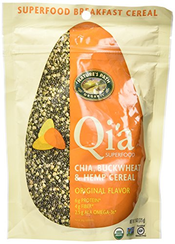 Nature's Path Organic Qi'a Gluten-Free Superfood Chia, Buckwheat & Hemp Cereal, Original, 7.9 Ounce