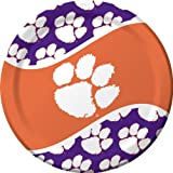Creative Converting Clemson Tigers Dinner Paper Plates, 8-Count