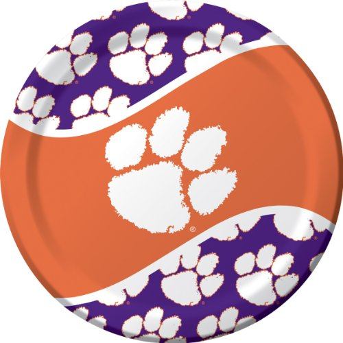 Clemson Tigers Bowl Game - 8-Count Paper Dinner Plates, Clemson Tigers