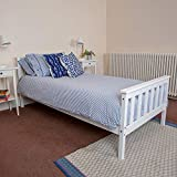 White Wooden 3ft Single Bed Frame