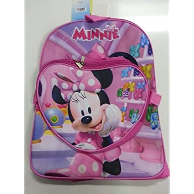 Backpack - Disney - Minnie Mouse - Colorful Bows w/Lunch Large Bag New 023538