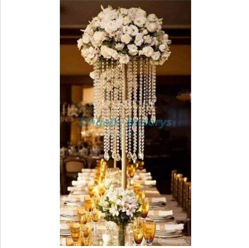 Pedestal Memorial (Everbon 23.6 inches Tall Wedding Flower Stand Wedding Crystal Road Lead Wedding Props Pedestal Wedding Column Set of 10)