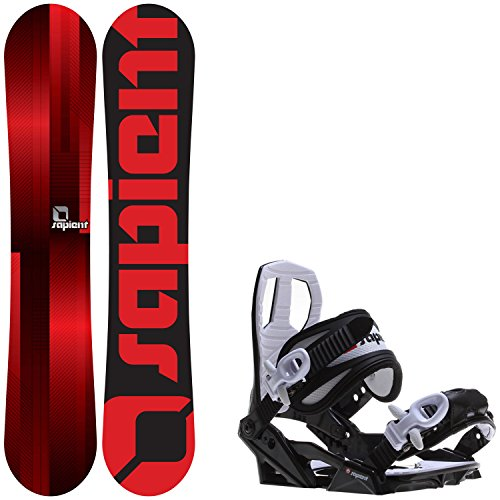 Sapient Fader 139 Youth Snowboard + Sapient Zeus Jr Bindings - Fits Youth Boot Sizes: 2,3,4,5,6 by Sapient
