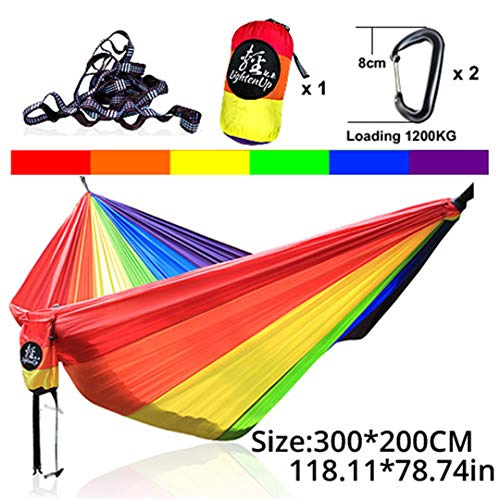 (Yoilsntsg Outdoor Parachute Hammock Camping Bed Iqammocking Mahogany Hammock Portable Outdoor Sleeping Hammock Bad Hamaca 22)