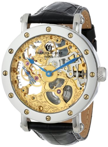 Charles-Hubert, Paris Men's 3876 Premium Collection Stainless Steel Mechanical Watch