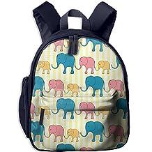 Flower Burst Rainbow Elephants Preschool Student Backpack School Bag Canvas Diaper Bags