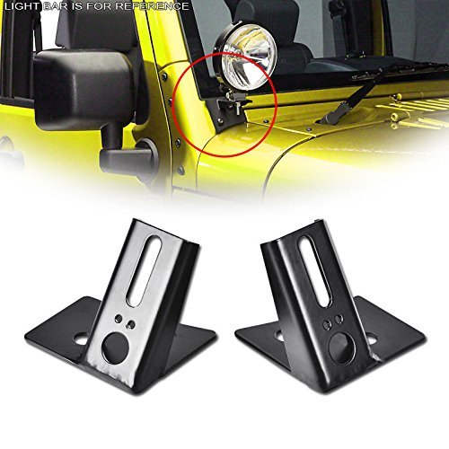 SXMA A-Pillar Windshield Hinge Mount Brackets Mounting Auxiliary - Off-Road LED Fog and Work Lights (2PCS)