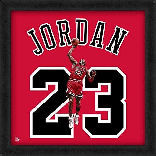 Michael Jordan Bulls Jersey Uniform 20 x 20 Framed Photo - Licensed NBA - Jersey Michael Jordan Authentic