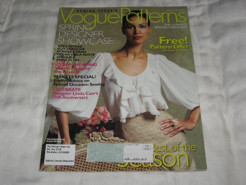 Vogue Patterns February/March 2007 Issey Miyake, Guy Laroche, Donna Karan, Osscar De La Renta, Anna Sui, Anne Klein