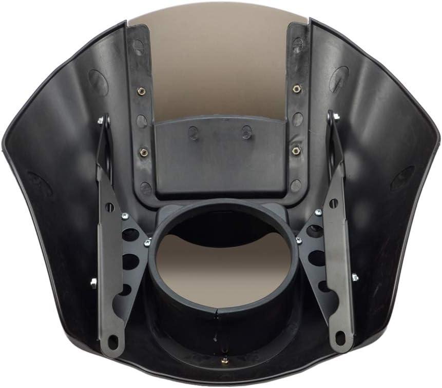 Benlari Quarter Fairing Windshield Windcreen Compatible for Harley Davidson Sportster XL Iron 883 1200 1988-2020 Dyna 1995-2005 FXR 1986-1994 (Vivid Black /& Smoke