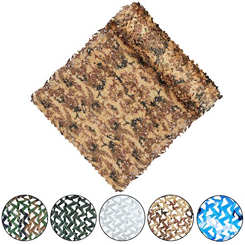 Yeacool Camouflage Netting Military Camo Nets for Party Decoration Hunting Sunshade Camping Shooting(Digital Desert Camo 32.8ftx5ft) ()
