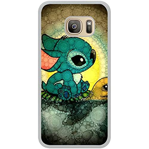 Disney Lilo And Stitch White Shell Phone Case Fit For Samsung Galaxy S7,Newest Cover Sales