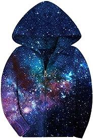 SAYM Big Boys' Youth Galaxy Teen Jackets Fleece Full Zip Hooded Hoodie 6