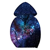 5 year old boys jackets - SAYM Big Boys' Youth Galaxy Teen Jackets Fleece Full Zip Hooded Hoodie 4-15Y NO4 XS