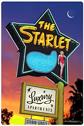 """Larry Grossman The Starlet Vintage Sign /""""Made in The USA with Heavy Gauge Steel"""