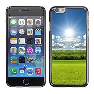 "For Apple Iphone 6 Plus / 6S Plus ( 5.5 ) , S-type Naturaleza Campo Sol"" - Arte & diseño plástico duro Fundas Cover Cubre Hard Case Cover"