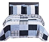 2pc set Zoe- Twin/ Twin XL 68 x 90'' Size, Over-Sized Quilt, Luxury Microfiber Printed Coverlet Bedspread Sets