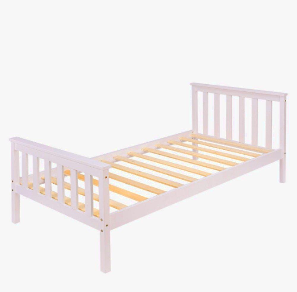 Einzelbett Weiß Hochglanz Tagesdecke 90x190 Bettwäsche Holz ...