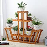Flower stand solid wood flower rack display shelf plant stand planter flower shelf plant rack living room balcony indoor landing flower pot rack multilayer succulents bonsai-A