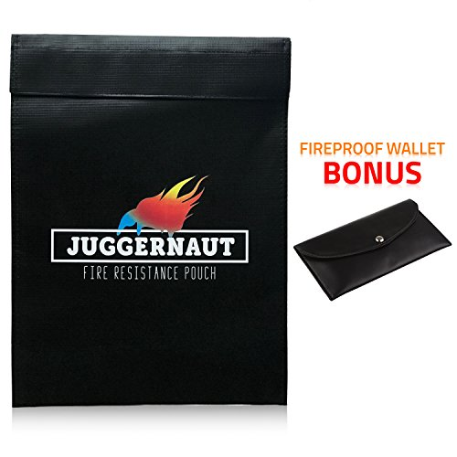 "Fireproof Document Bag by Juggernaut 15"" x 11""