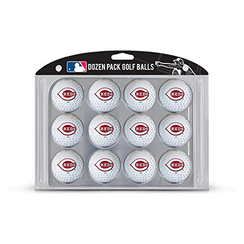Team Golf MLB Cincinnati Reds Dozen Regulation Size Golf Balls, 12 Pack, Full Color Durable Team Imprint