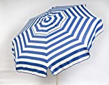 Heininger 1321 DestinationGear Italian Blue and White 6′ Acrylic Striped Beach Pole Umbrella Review
