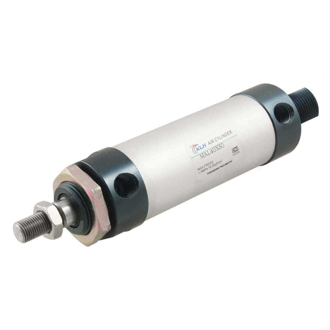 sourcingmap® MAL40x50 40mm Bore 50mm Stroke Single Rod Double Action Air Cylinder a12051400ux0178