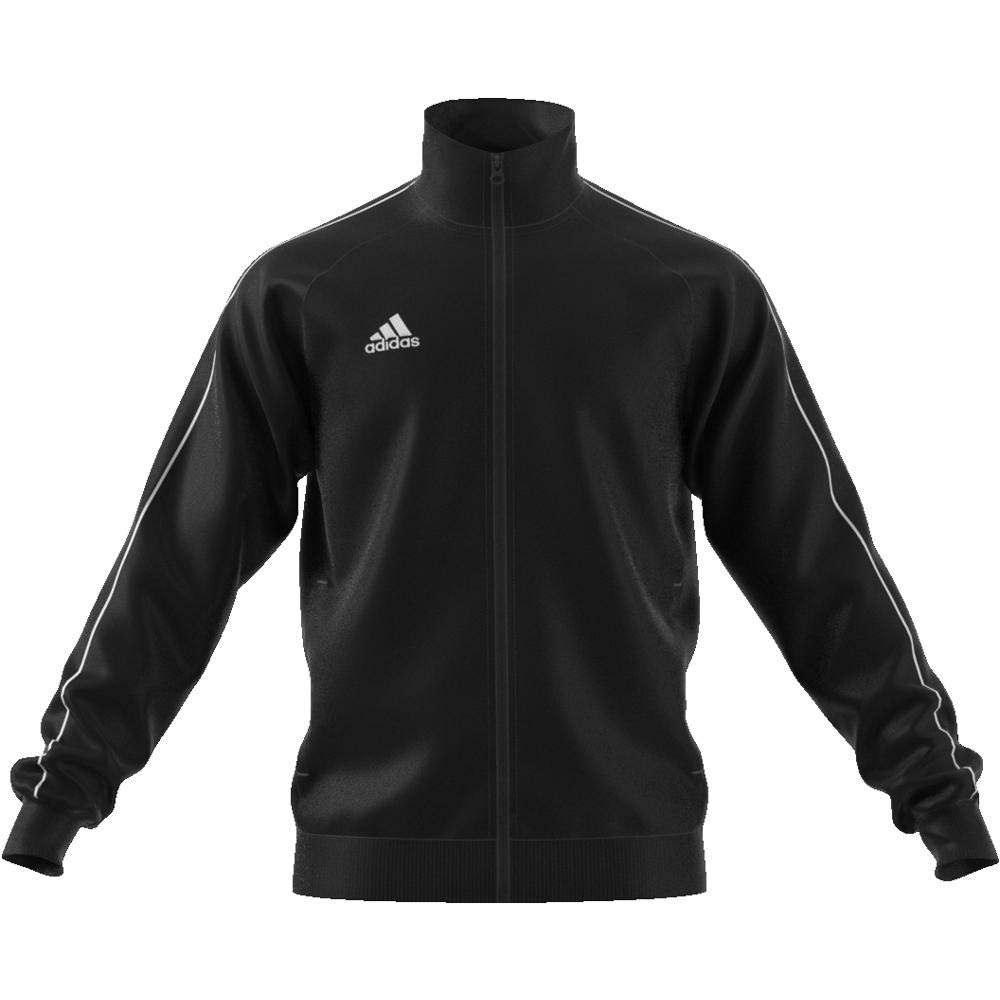 Amazon.com: adidas Core 18 PES Jacket - Adult - Black/White ...