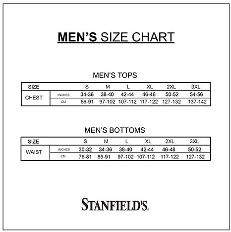 Stanfields Mens 100-Percent Cotton Rib Long Sleeve Combination Red//Extra Large