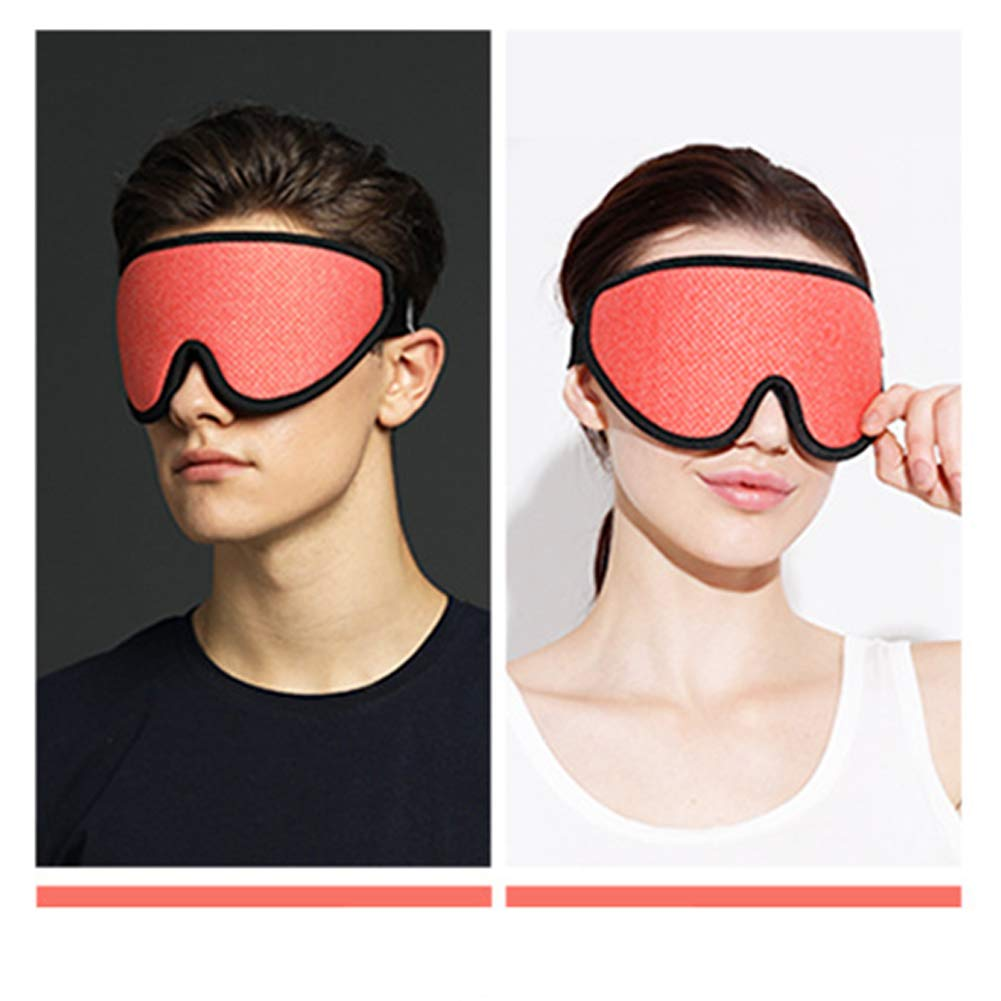 JMung Cotton Silk Eye Mask Graphene Heat mask relieves Fatigue and hot Compress USB to Help Sleep and Remove Dark Circles Under The Eyes,Red