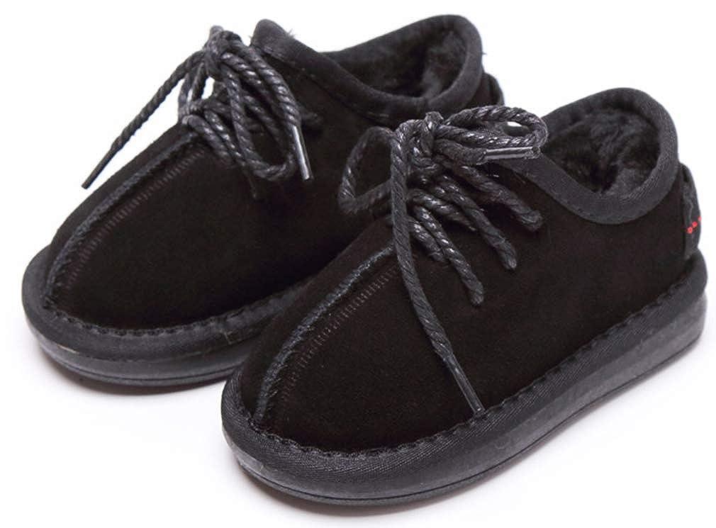 VECJUNIA Boys Girls Casual Winter Shoes Low Top Nonslip Outdoor Indoor Booties